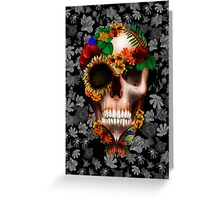 Halloween sugar skull with butterfly Greeting Card
