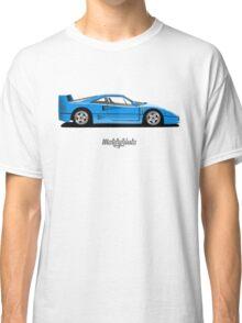 Ferrari F40 (blue) Classic T-Shirt