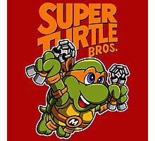 Super Turtle Bros - Mikey Photographic Print