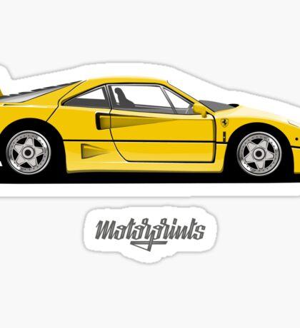 Ferrari F40 (yellow) Sticker