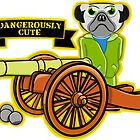 Pug with a Cannon by piedaydesigns