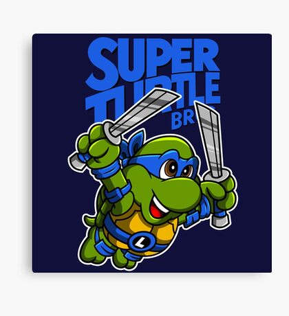 Super Turtle Bros - Leo Canvas Print
