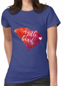Myrtle Beach Womens Fitted T-Shirt