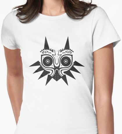 Mask of the Moon Womens Fitted T-Shirt