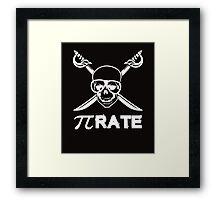 Pi Rate white Framed Print