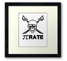 Pi Rate black Framed Print