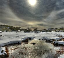 Winter sun halo, Mount Buffalo by Kevin McGennan