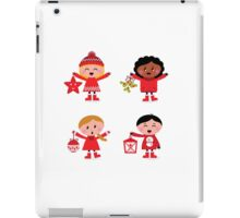 Winter happy kids collection : red iPad Case/Skin