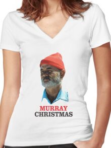 murray christmas Women's Fitted V-Neck T-Shirt