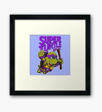 Super Turtle Bros - Donnie Framed Print