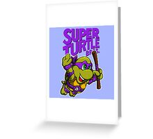 Super Turtle Bros - Donnie Greeting Card