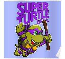 Super Turtle Bros - Donnie Poster