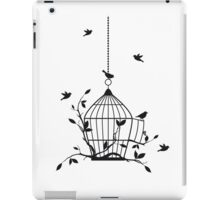 Free birds with open birdcage iPad Case/Skin