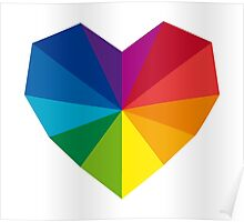 colorful geometric heart Poster