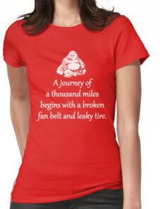 A Journey Of A Thousand Miles Womens Fitted T-Shirt