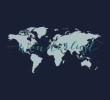 Wanderlust, desire to travel, world map Kids Clothes