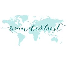 Wanderlust, desire to travel, world map Photographic Print