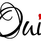 Oui, yes, French word art with red heart by beakraus