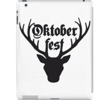 edelweiss blumen text hirsch geweih hörner oktoberfest silhouette schwarz shirt cool design  iPad Case/Skin