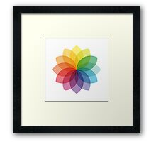 Abstract colorful flower design Framed Print