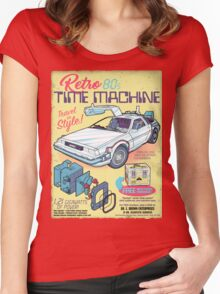 Retro Time Machine Women's Fitted Scoop T-Shirt