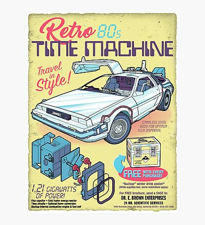 Retro Time Machine Photographic Print
