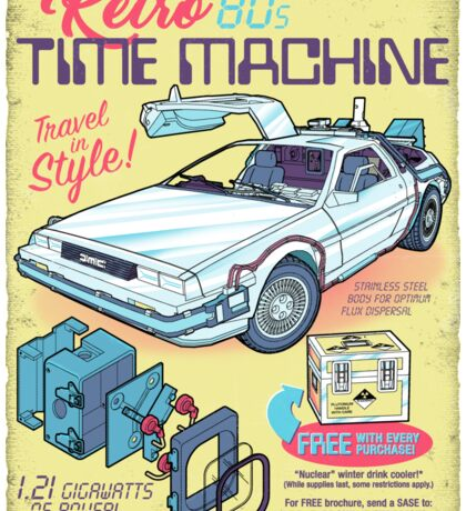 Retro Time Machine Sticker