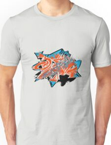 Colorful grunge distressed graffiti arrows Unisex T-Shirt