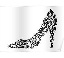 Stiletto with different shoe silhouettes Poster