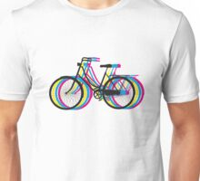 Colorful old bicycle silhouette Unisex T-Shirt