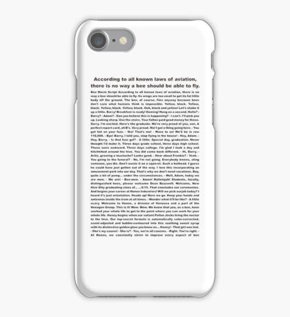 bee movie  iPhone Case/Skin