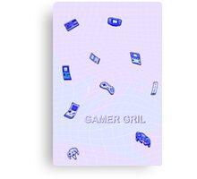 pastel gamer gril  Canvas Print
