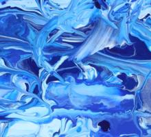 Blue Swirl Full Sticker