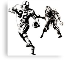 Sunday Funday: Football and Zombies Canvas Print