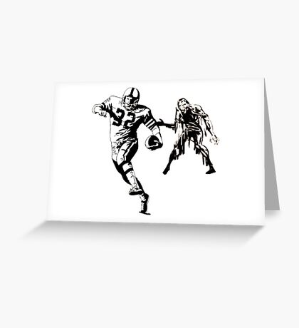 Sunday Funday: Football and Zombies Greeting Card