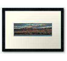 Sunset Over Havasu Framed Print