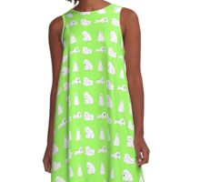 Cute Arctic Animals A-Line Dress