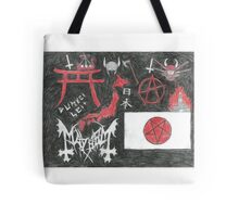 Japanese Nationalist Black Metal Anarchy Tote Bag
