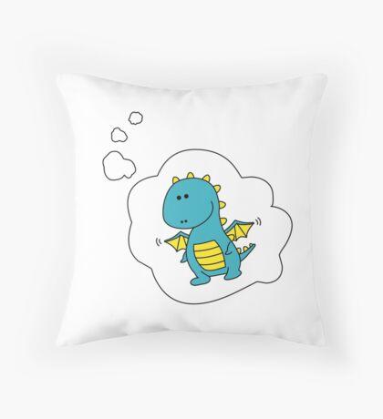 Imagine Dragons - Blue Cartoon Version! Throw Pillow