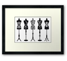 Vintage fashion mannequins  Framed Print