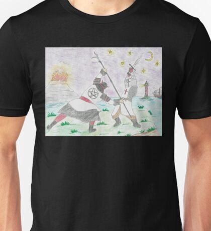 Satanic Samurai Fighting Christian Knight Unisex T-Shirt