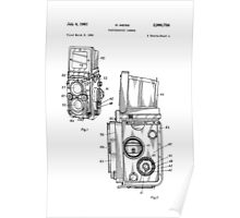 Rolleiflex Twin Lens Film Camera Vintage Patent Drawing  Poster