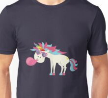 Crazy Unicorn - Blowing Bubbles Unisex T-Shirt