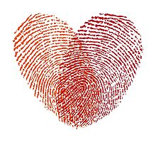 red fingerprint heart by beakraus