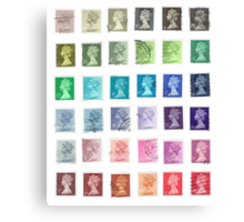 Color Queens Postage Stamps Canvas Print