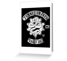Tunnel Snakes Greeting Card