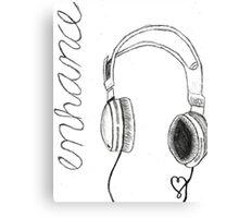 enhance headphones Canvas Print