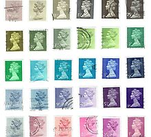 Color Queens Postage Stamps by bluespecsstudio