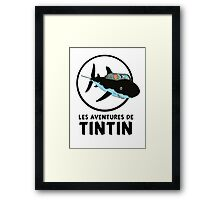 Adventure tintin Framed Print