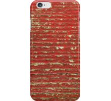 Chipped Red Painted Wood iPhone Case/Skin